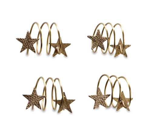 Set of 4 Star Napkin Rings