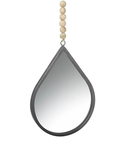 Small Teardrop Mirror with Beads