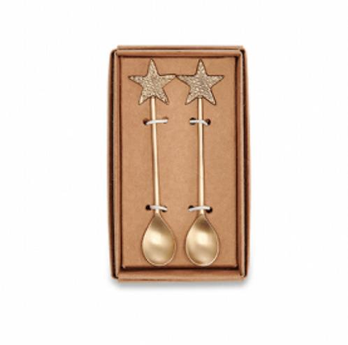 Set of 2 Star Brass Spoons