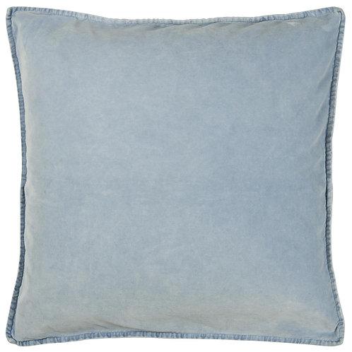 Pale Blue Velvet Cushion