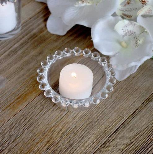 Small Beaded Glass Tealight Holder