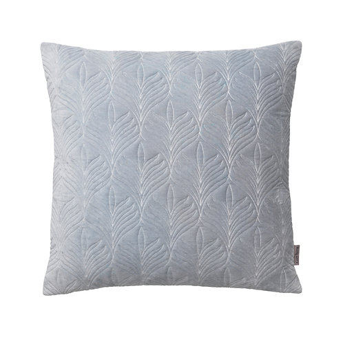 Dusty Blue Quilted Velvet Cushion