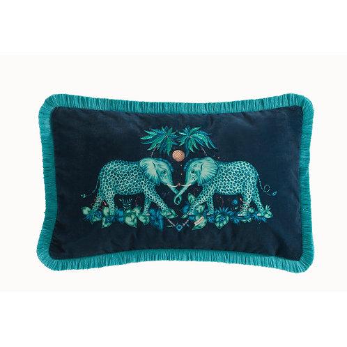 Emma Shipley Teal Zambezi Cushion