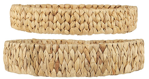 Set of 2 Woven Trays