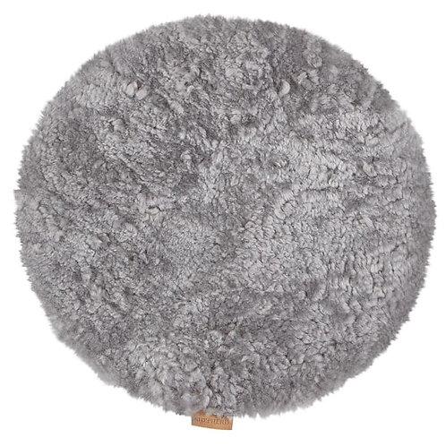 Grey Sheepskin Ida Round Seat Cushion