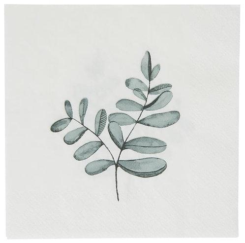 Pack of 20 Eucalyptus Leaves Paper Napkins