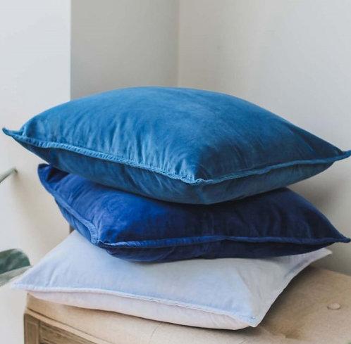 Midnight Blue Velvet Cushion