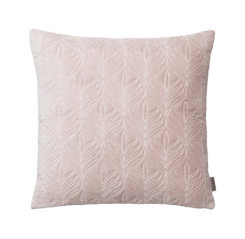 Dusty Rose Quilted Velvet Cushion