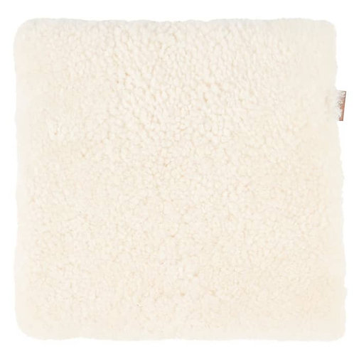 Creme Sheepskin Ida Square Seat Cushion