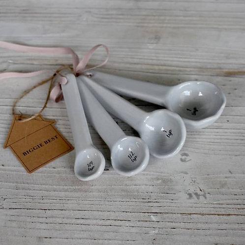 Set of 4 ceramic Measuring Spoons