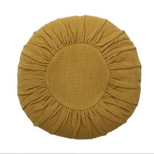Round Mustard Cushion