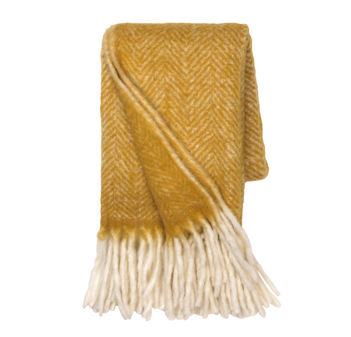Mustard Mathea Throw