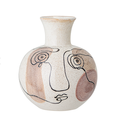 Ceramic Abstract Face Vase