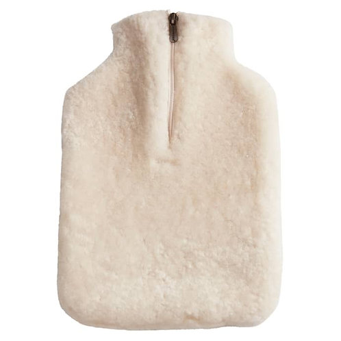 Creme Sheepskin Hot Water Bottle Cover