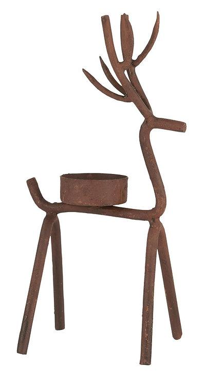 Metal Reindeer Tealight Holder