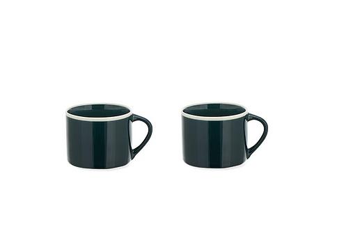 Set of 2 Small Dark Teal Datia Mug