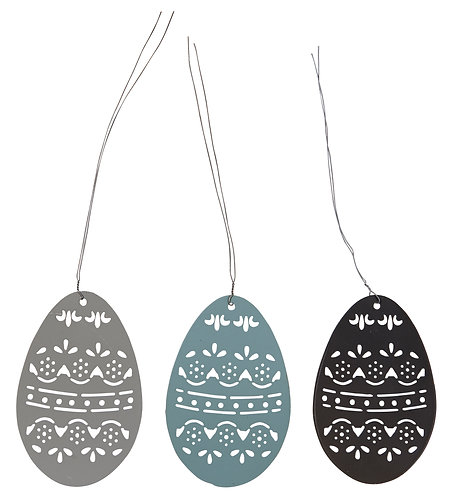 Set of 6 Medium Easter Egg Decorations
