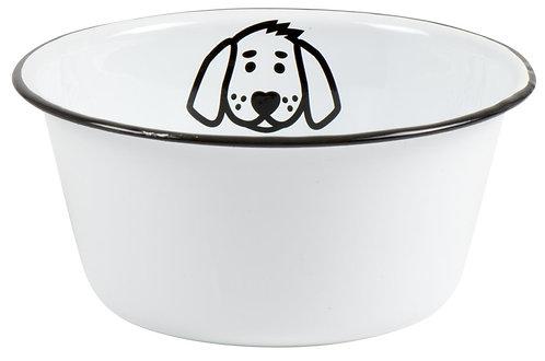 Small Enamel Dog Bowl