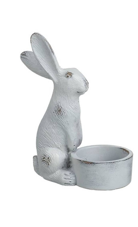 Grey Hare Tealight Holder
