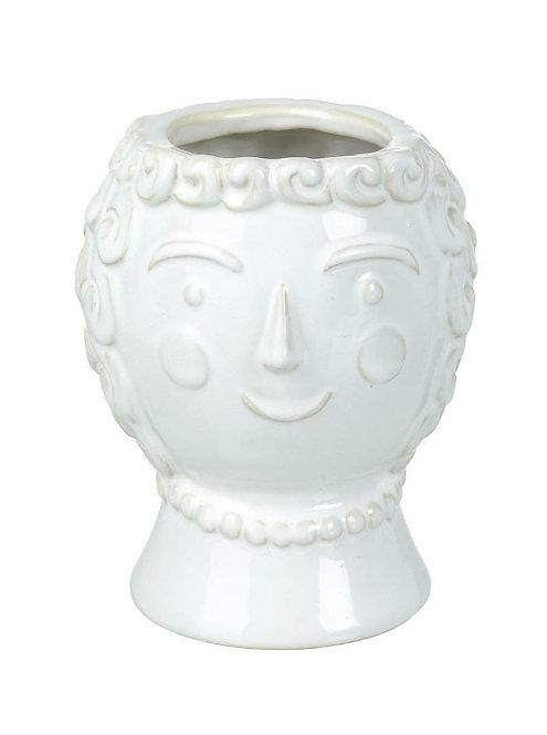 Lady Julius White Ceramic Vase