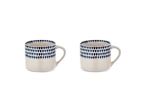 Set of 2 Small Indigo Drop Mug