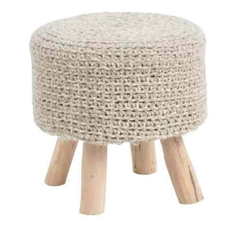 Nomad Stone Grey Knitted Stool