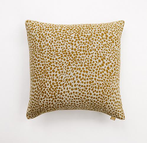 Mustard Animal Print Cushion