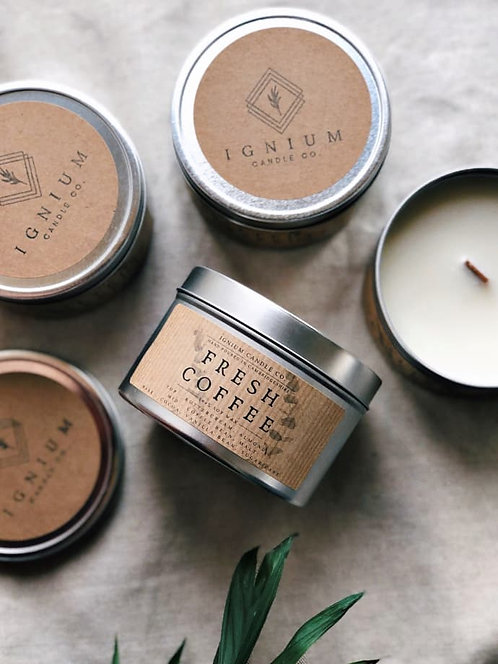 Fresh Coffee Scented Soy Wax Candle