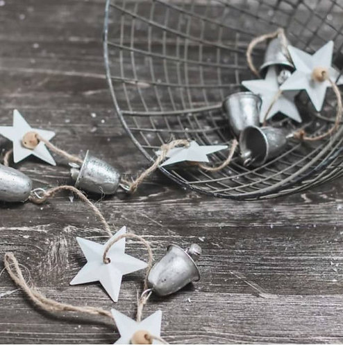 Metal Bell & Star Garland