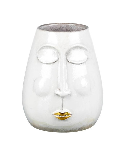 Ceramic Lippy Face Vase