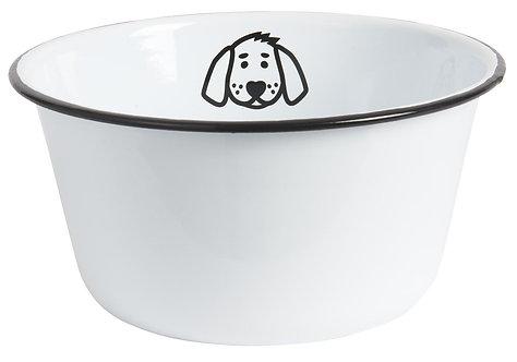 Large Enamel Dog Bowl