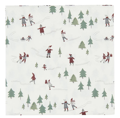 Pack of 20 Christmas Paper Napkins