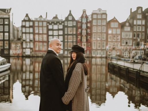 Amsterdam Couple photoshoot   Sunny winter morning..
