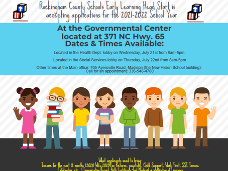 RCS Early Learning Head Start is accepting applications: