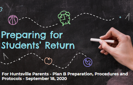 Preparing for Students' Return Slideshow with links
