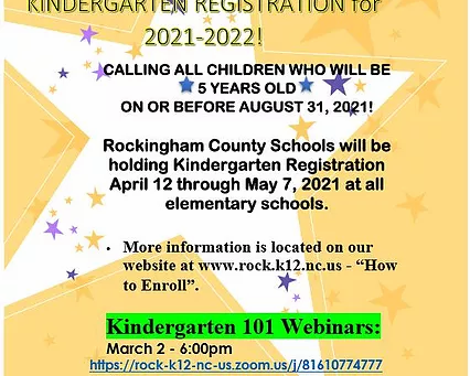 Kindergarten Registration Webinars--Presentation now available for those who could not attend...