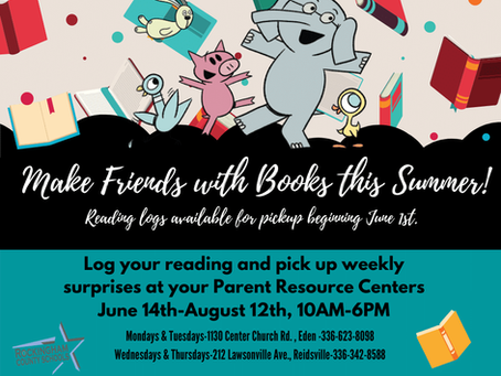 Summer Reading at the RCS Parent Resource Centers--Don't Miss Out...