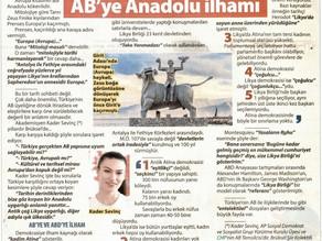 Kader Sevinç'in AB'ye Anadolu İlhamı Likya Birliği Çalışması Güneri Civaoğlu'nun köşesinde