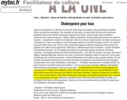 ARTICLE DE PRESSE - HAMLET