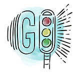 "Traffic light that says ""GO""."