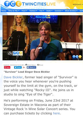 David Bickler Twin Cities Live Performan