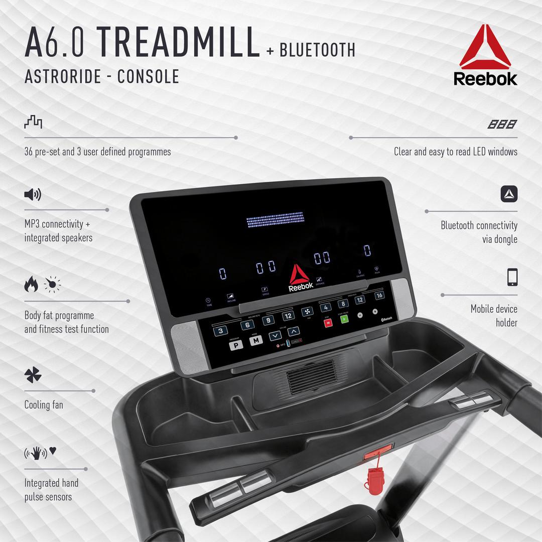 Reebok A6.0 Treadmill Console