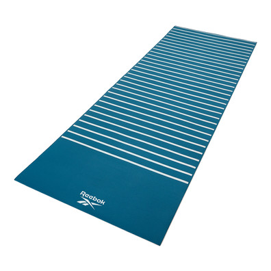 Reebok 4mm green stripes and crosses patterned yoga mat