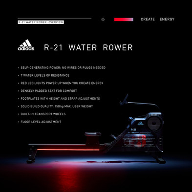 adidas R-21 Water Rower Overview
