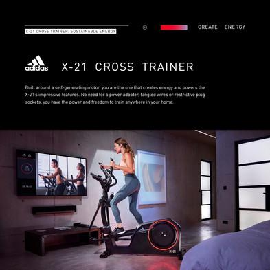 adidas X-21 Cross Trainer Sustainable Energy