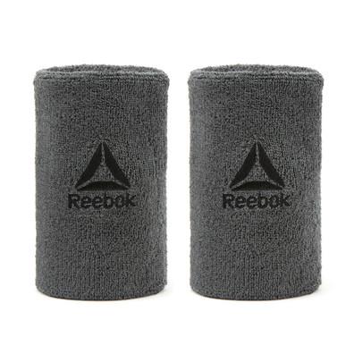 Reebok Grey Long Sports Wristbands