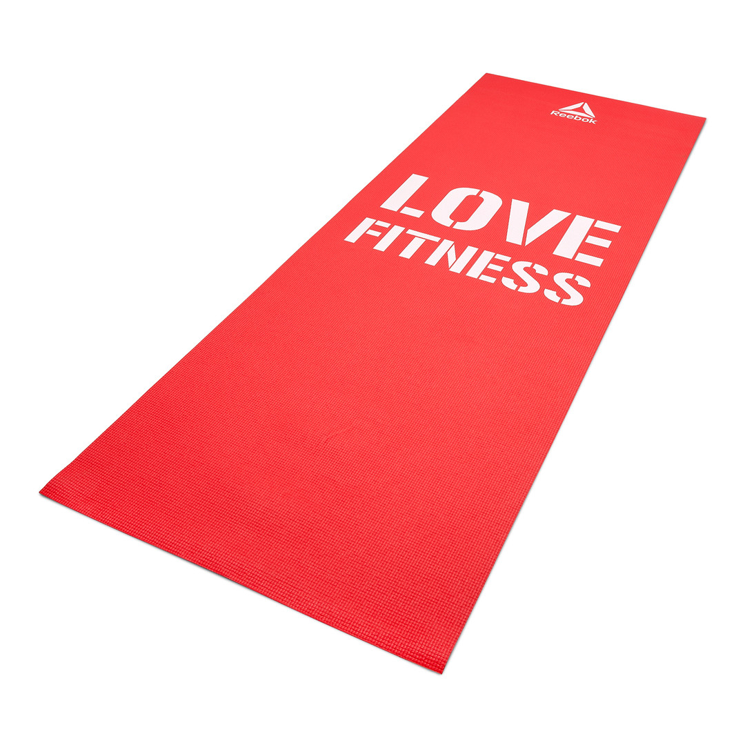 Reebok 'Love Fitness' Red exercise mat