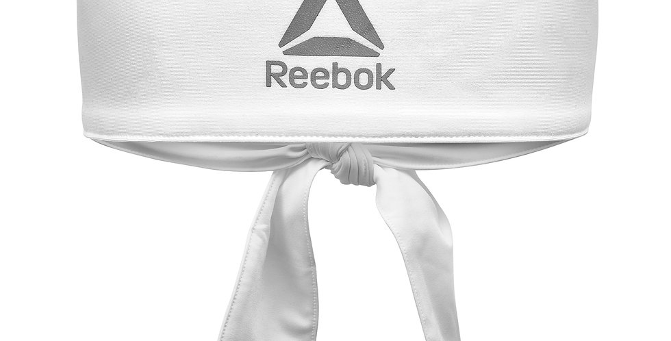 Reebok Strength Training White Tie-up Headband