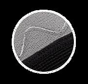 Secure, non-slip silicone inlay