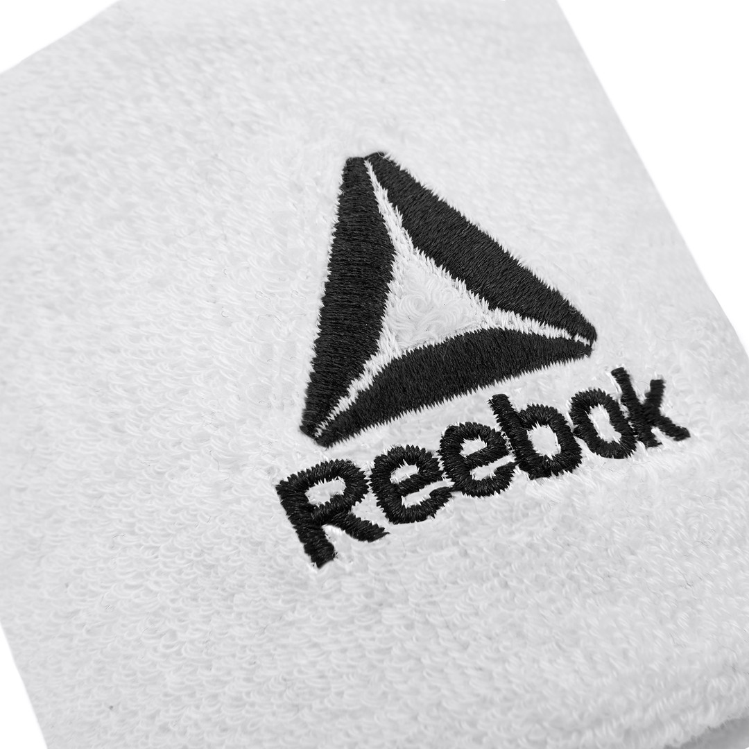 Reebok White Sports Wrist Sweatbands